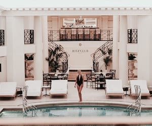 architecture, hotel, and pool image