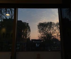 dark, sunset, and night image