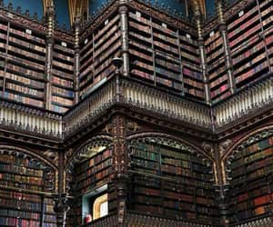 books, library, and shelf image