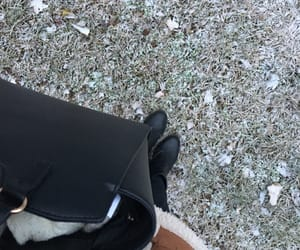 bag, winter fashion, and cold outside image
