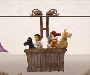 wes anderson and isle of dogs image