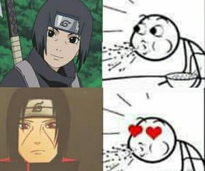 anime, funny, and itachi uchiwa image