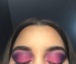makeup, pink purple, and pink image