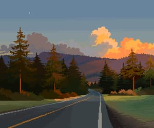 art, forest, and pixels image