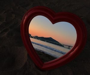 aesthetic, sunset, and heart image