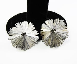 etsy, round earrings, and brushedsilver image