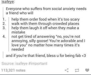 anxiety, blessed, and friendship image