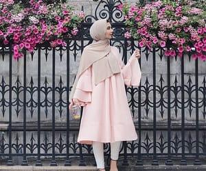 Blanc, hijab, and pink image