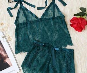 dentelle, green, and lingerie image
