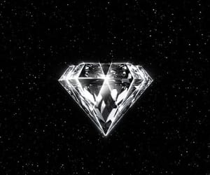 diamond, exo logo, and exo image