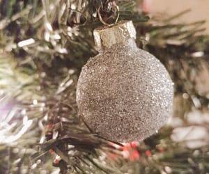 ball, christmas tree, and holidays image
