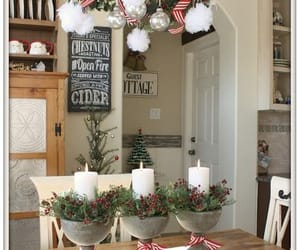 candles, christmas, and decorations image