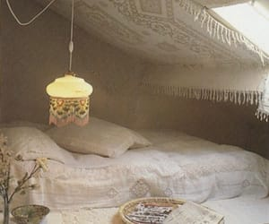 bed, bohemian, and cozy image