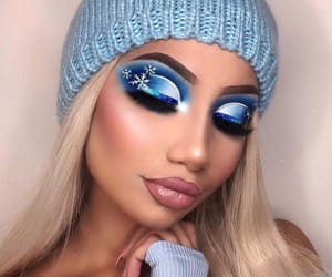 makeup, winter, and snow image