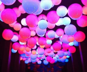 colors, balloons, and neon image