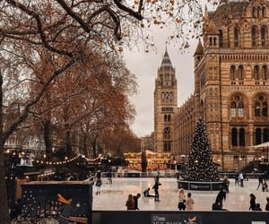 winter, city, and christmas image