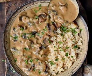 food porn, mushrooms, and recipes image