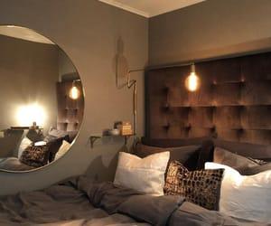 art deco, bedroom, and mirror image