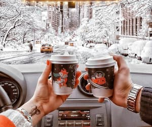accessories, coffee, and snow image
