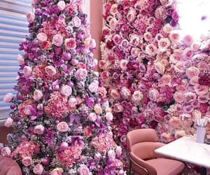 flowers, pink, and christmas image