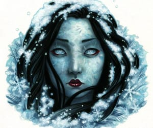 art, female, and watercolor image
