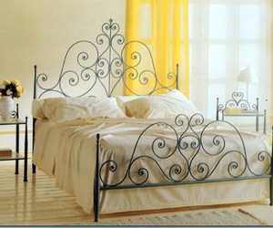 bed, frame, and love image