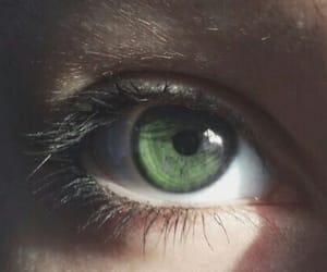 girl, green, and eye image