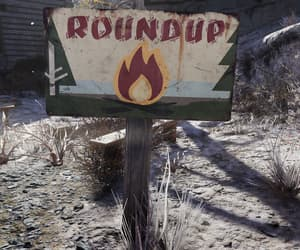 fallout, fire, and sign image