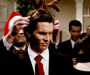 american psycho, christian bale, and gif image