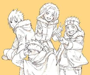 naruto, uchiha sasuke, and haruno sakura image