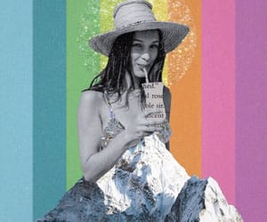 beach, Collage, and collage art image