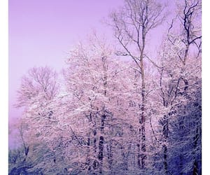 lilac, pastel, and snow image