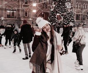 christmas, fashion, and snow image
