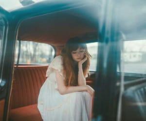 bangs, car, and dress image