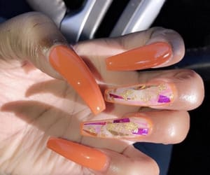 nails, poppin, and orange image