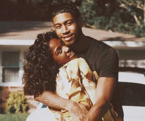 cute, couple, and black love image