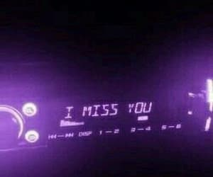 purple, aesthetic, and i miss you image