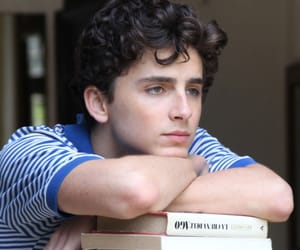 call me by your name, timothee chalamet, and book image
