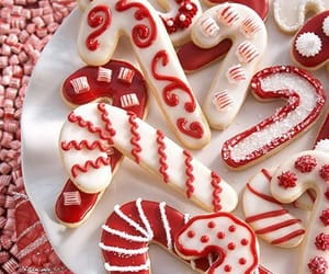 aesthetic, candy cane, and christmas image