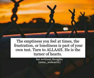 allah, emptiness, and frustrated image