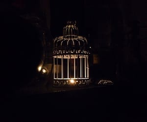 birdcage, candle, and light image