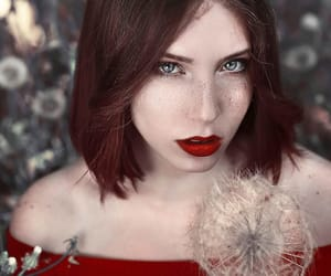 blue eyes, nature, and redhead image
