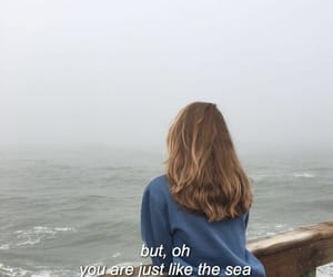 quotes, words, and sea image