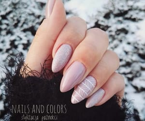 manicure, white, and nails image