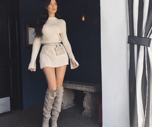boots, chic, and dress image