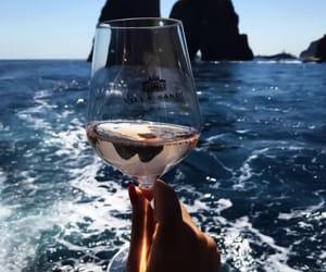 sea, wine, and ocean image