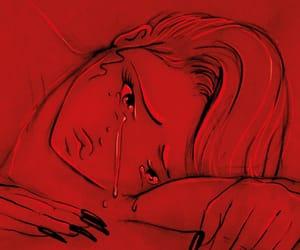 red, billie eilish, and sad image