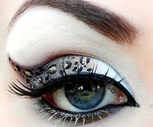 eye shadow, pale, and white lashes image