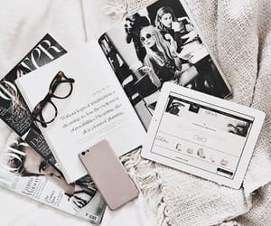 fashion, glasses, and reading image