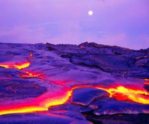 nature, lava, and volcano image